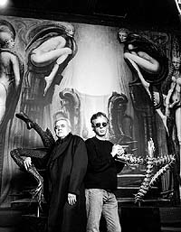HR Giger and Peter Gatien in the Giger Room - Limelight NYC